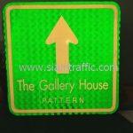 ป้ายจราจรบอกทาง The Gallery House PATTERN ขนาด 45 x 45 เซนติเมตร