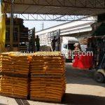 สีตีเส้นจราจรสีเหลือง ส่งไปสำนักงานทางหลวงชนบทที่ 10 จังหวัดเชียงราย จำนวน 250 ถุง
