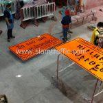 ป้ายเตือนสำหรับโครงการก่อสร้าง ขนาด 120 x 220 ซม.