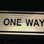 ป้ายสะท้อนแสง ONE WAY