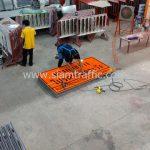 ป้ายเตือนโครงการก่อสร้าง ตค.1 ทางก่อสร้างโปรดระมัดระวัง