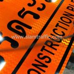 ป้ายเตือนก่อสร้าง ตค.1 ทางก่อสร้างโปรดระมัดระวัง