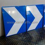 ป้ายเชฟรอนขนาด 60 x 75 ซม. สีน้ำเงิน สัญลักษณ์สีขาว