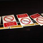 ป้ายบังคับ ป้ายห้ามสูบบุหรี่ บริษัท เซ็นทรัลพัฒนา จำกัด (มหาชน)