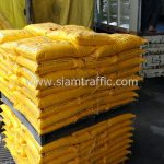 สี thermoplastic สีเหลือง จำนวน 46 ถุง ส่งไปภาคเหนือ สายกุยประดู่-คลองโพธิ์