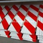 ป้ายบั้งลายเฉียง ขาวสลับแดง ขนาด 15 x 60 เซนติเมตร สายทางรอบเกาะสมุย ตอนบ้านหัวถนน-บ้านเฉวง (ตอน 4)