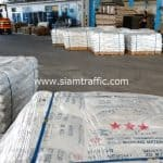 สีเทอร์โมพลาสติกสีขาว จำนวน 1,200 ถุง ปลายทางเมืองเมียวดี ประเทศพม่า