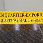 ป้าย EMQUARTIER-EMPORIUM ลูกศรชี้ซ้าย ขนาด 15 x 80 เซนติเมตร